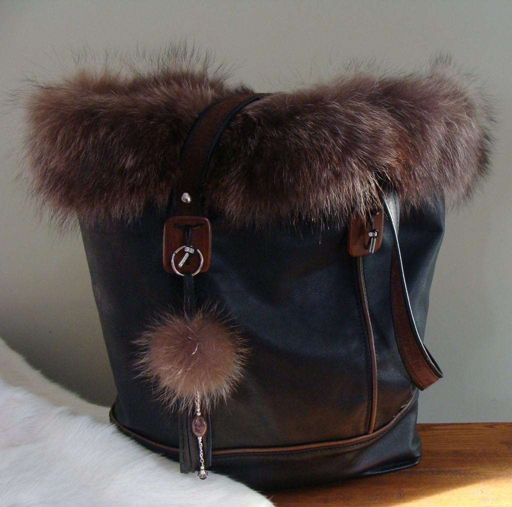 Cabas cuir-renard 400 $